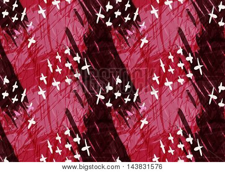 Marker Hatched Red With Crosses