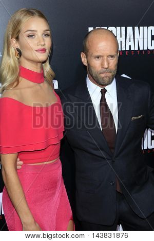 LOS ANGELES - AUG 22:  Jason Statham, Rosie Huntington-Whiteley at the