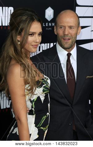 LOS ANGELES - AUG 22:  Jessica Alba, Jason Statham at the