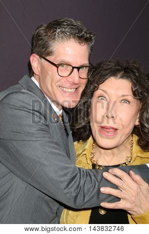 LOS ANGELES - AUG 22:  Bob Bergen, Lily Tomlin at the Television Academy's Performers Peer Group Celebration at the Montage Hotel on August 22, 2016 in Beverly Hills, CA
