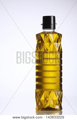 bottle of olive oil on the white background