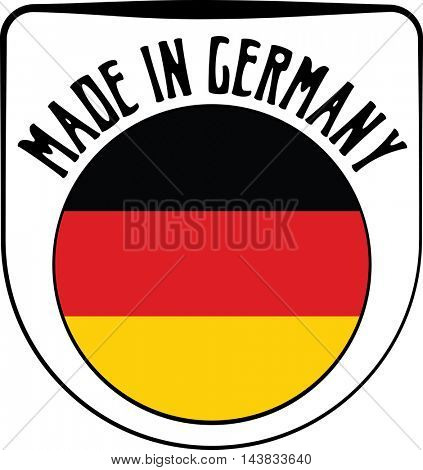 Made in Germany badge sign. Vector illustration