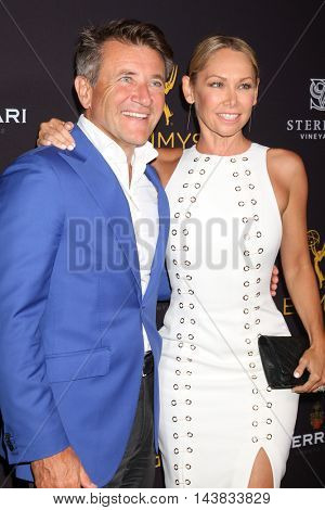 LOS ANGELES - AUG 22:  Robert Herjavec, Kym Johnson at the Television Academy's Performers Peer Group Celebration at the Montage Hotel on August 22, 2016 in Beverly Hills, CA