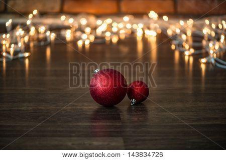 Christmas decoration, red Christmas balls