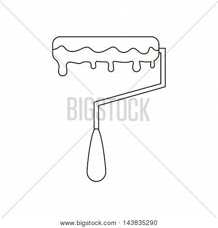 Paint roller illustration on the white background. Vector illustration