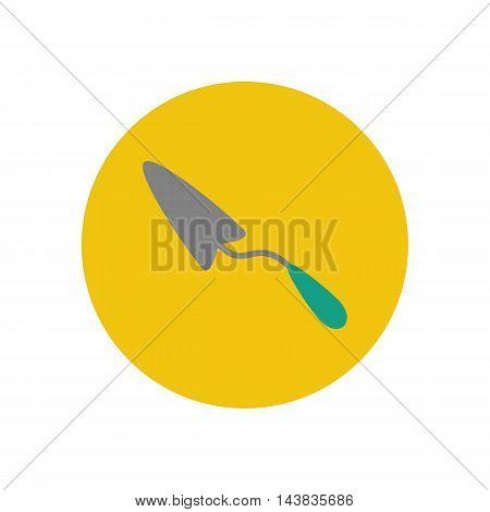 Spatula illustration on the yellow background. Vector illustration
