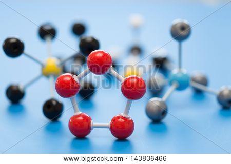 molecule model in school lab