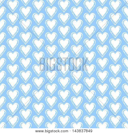Seamless background with hearts. Love ornament. Romantic art. Valentine pattern. Elegant backdrop for cards invitations. Vector illustration.