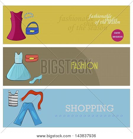 banner templates includes different items of clothing