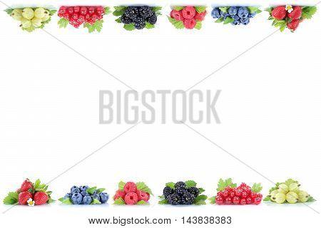 Berries Strawberries Blueberries Berry Fruits Fruit Copyspace Copy Space