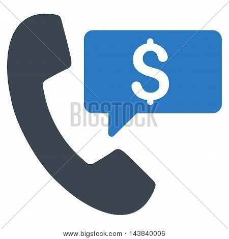 Phone Order icon. Vector style is bicolor flat iconic symbol with rounded angles, smooth blue colors, white background.