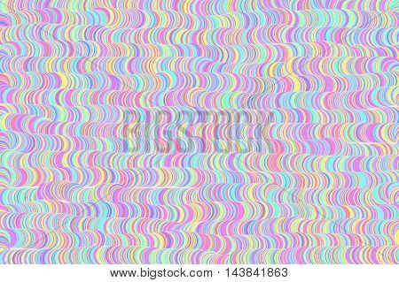 Multi color waves illustration background.  Red, yellow, blue, green, pink and turquoise