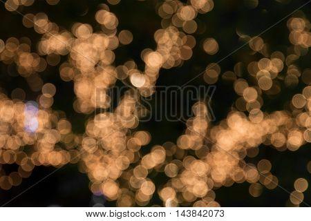 Golden abstract bokeh lights. defocused for background.