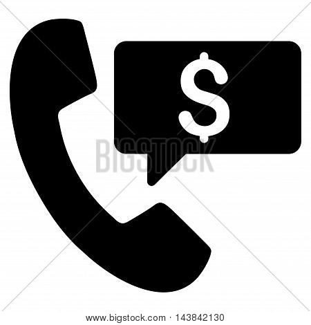 Phone Order icon. Vector style is flat iconic symbol with rounded angles, black color, white background.