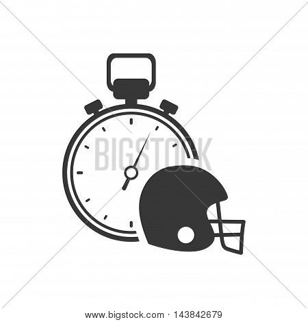 chronometer helmet healthy lifestyle fitness silhouette icon. Flat and Isolated design. Vector illustration