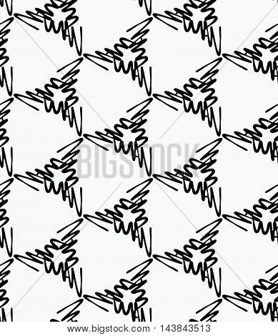 Scribbled Strokes Forming Triangles On White