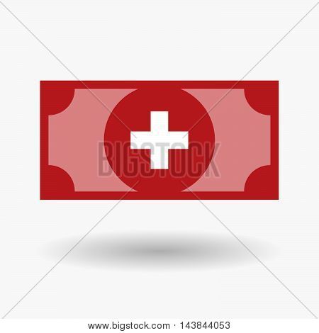 Isolated  Bank Note Icon With   The Swiss Flag
