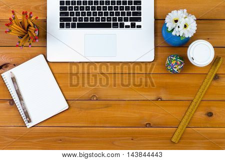 Clean Desk With Neatly Arranged Office Supplies
