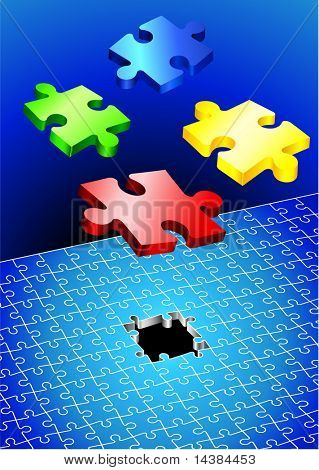 Incomplete Puzzle Set Original Vector Illustration Incomplete Puzzle Ideal for Business Concept