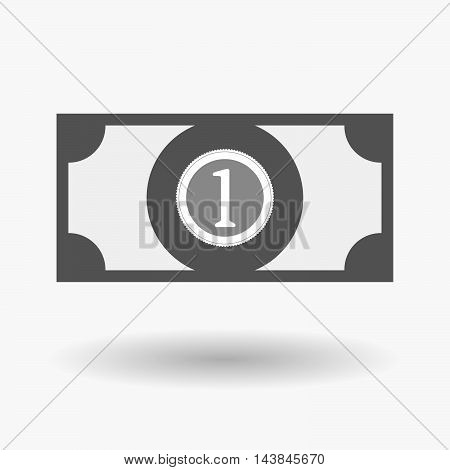 Isolated  Bank Note Icon With  A Coin Icon