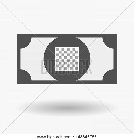 Isolated  Bank Note Icon With  A Chess Board