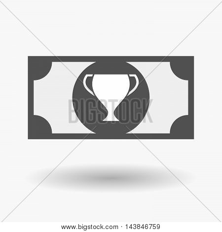 Isolated  Bank Note Icon With  An Award Cup