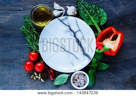 Healthily Cooking Concept