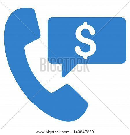 Phone Order icon. Vector style is flat iconic symbol with rounded angles, cobalt color, white background.