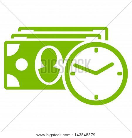 Cash Credit icon. Vector style is flat iconic symbol with rounded angles, eco green color, white background.