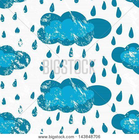 Rough Brush Blue Rainy Clouds