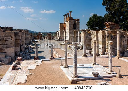 Tomb of Saint John in Church of Saint John in Selcuk / Ephesus. Turkey