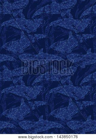 Underwater Fish Triangular Blue