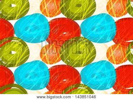 Rough Brush Green Red Blue Circles