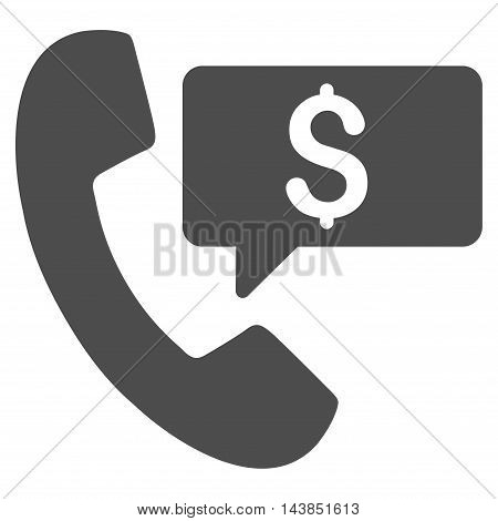 Phone Order icon. Vector style is flat iconic symbol with rounded angles, gray color, white background.