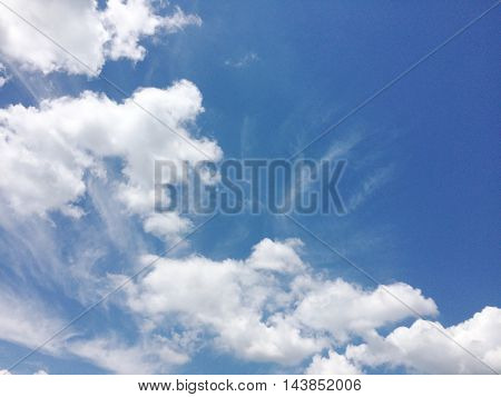 clos eup blue  sky clouds of background