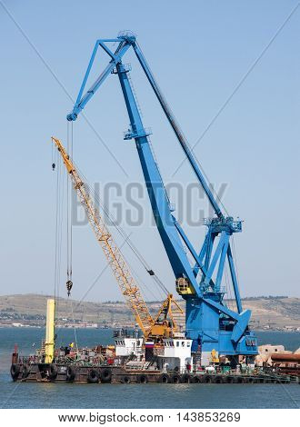 two cranes for maritime cargo port in the Crimea.