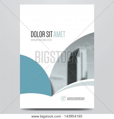 Business brochure, flyer, poster, annual report, magazine cover vector template. Modern blue and grey corporate flat design.