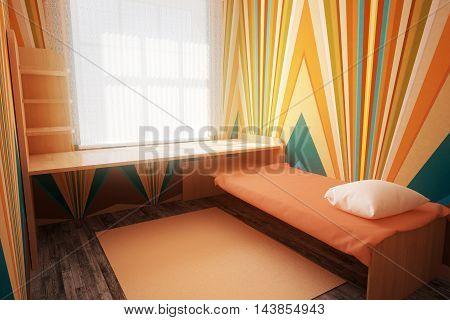 Colorful Bedroom Interior