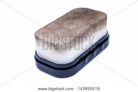 sponge for shoes on a white background
