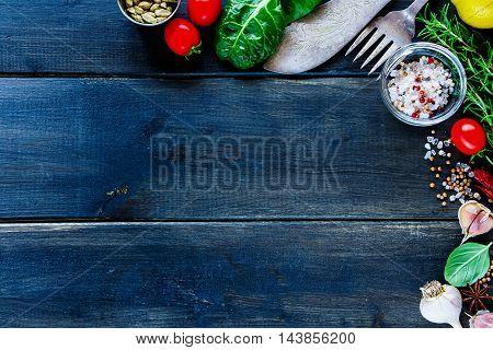 Fresh Vegetables And Seasoning