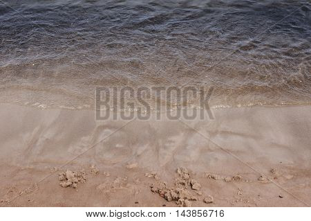 Sea ocean sand Inscription LOVE, romantic sea