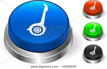Segway Icon on Internet Button Original Vector Illustration Three Dimensional Buttons