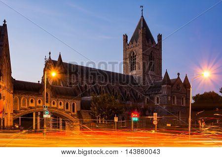 Afternoon Long Exposure Christ Church Light Streaks Dublin Ireland Cityscape