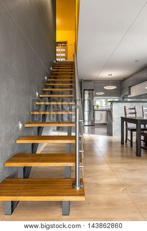 Functional Stairs In Modern Villa Interior Idea