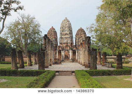 Ancient City Of Sukothai In Thailand