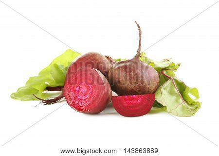 Fresh Beet Isolated On A White Background