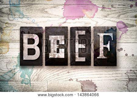 Beef Concept Metal Letterpress Type