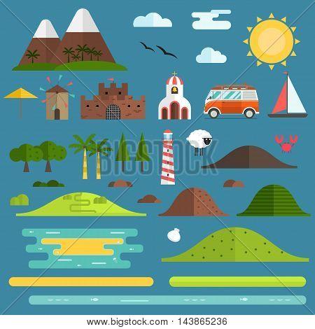 Travel Island Landscape Creator Set