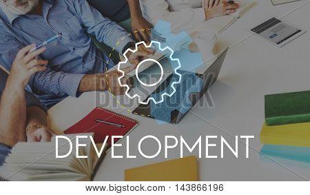 Development Business Action Analysis Concept