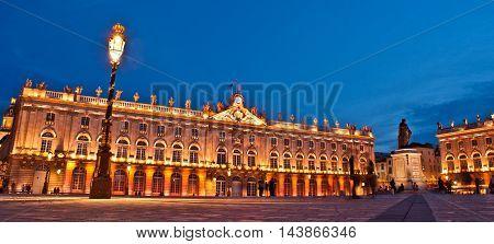 Night scene at Place Stanislas, Nancy, France
